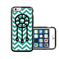 RCGrafix Brand Dream Catcher emrald green Chevron Black iPhone 6 Case - Fits NEW Apple iPhone 6