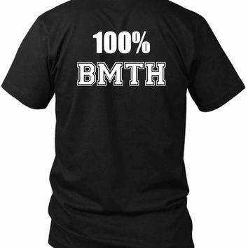 Bring Me To The Horizon 100 Bmth 2 Sided Black Mens T Shirt