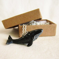 Whale Necklace , Totem Jewelry With a Message