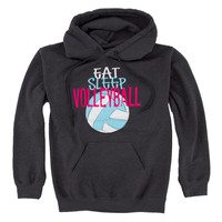 Eat Sleep Hoodie :: 12.105.D74.2X :: Lucky Dog Volleyball