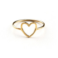 Through My Heart Ring - Heart Jewelry at Pinkice.com