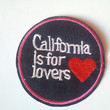California is for lovers USA CA Red Heart applique iron on patch