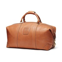 Chestnut Leather Duffel Bag by Ghurka