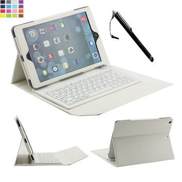 """New Wireless Silicone Bluetooth Keyboard Case For Apple iPad Air 2 /iPad 6 9.7"""" PC With Build-in Stand Leather Protective Cover"""