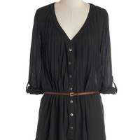 Shirt and Sweet Tunic in Black Currant | Mod Retro Vintage Short Sleeve Shirts | ModCloth.com