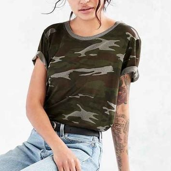 Truly Madly Deeply Camo Marnie Tee