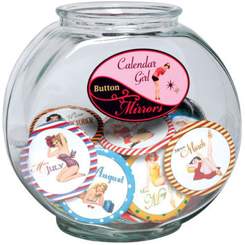 Calendar Girl Purse Mirror