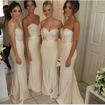 Free shipping sexy party dress champagne satin Lunch, new bridesmaid dress, plus size maxi length 2016 new arrival coral
