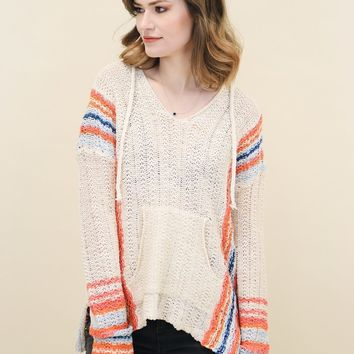 Multi Color Hooded Sweater