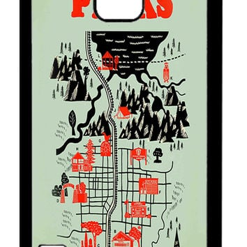 Twin Peaks Welcome To Twin Peaks Map Samsung Galaxy S5 Cases - Hard Plastic, Rubber Case