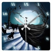 My Part to the Longest Illustration. Square Wall Clocks