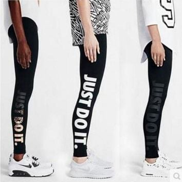 ESBON0 Nike Fashion Print Exercise Fitness Gym Yoga Running Leggings Sweatpants