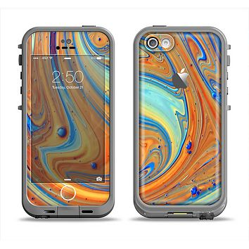 The Colorful Wet Paint Mixture Apple iPhone 5c LifeProof Fre Case Skin Set