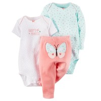 Carter's ''Daddy's Princess'' Butterfly Bodysuit & Pants Set - Baby Girl, Size:
