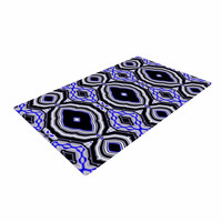 """Dawid Roc """"Inspired By Psychedelic Art 3"""" Purple Abstract Woven Area Rug"""