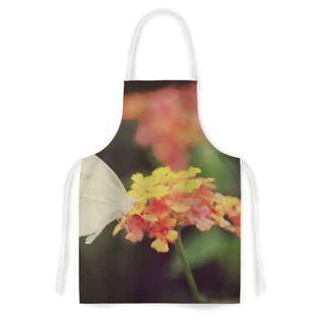 "Robin Dickinson ""Captivating"" Orange Flower Artistic Apron"