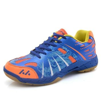 2018 New Light Breathable Badminton Shoes for Men Lace-up Sport Shoes Men's Training Athletic Shoe Anti-Slippery Tennis Sneakers