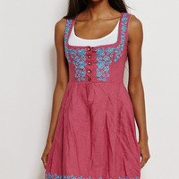 Vintage Women Dirndl German Bavarian Austrian Dress Corset Embroidery UK 8/10...US 4/6