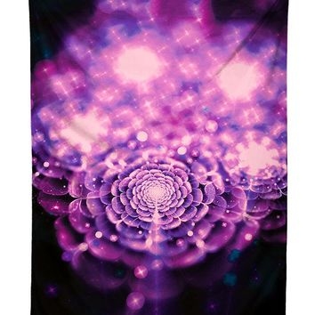 Flower Fae Galaxy Tapestry