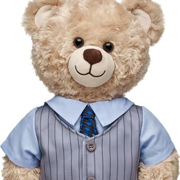 Gray Pinstripe Vest & Tie 2-Fer | Build-A-Bear