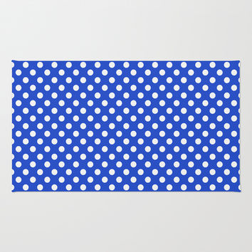 Royal Blue Combination Polka Dots Area & Throw Rug by Inspired By Fashion