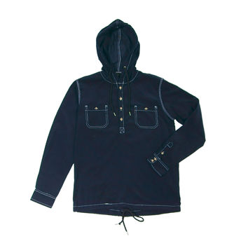 Corduroy Hooded Popover 15 Blue