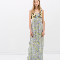 COMBINED MAXI DRESS