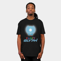 Party Glyph T Shirt By FlyNebula Design By Humans