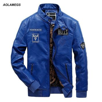 Men Leather Jacket - Fashion Leisure Biker Jacket