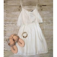 Simple white dress from PeaceLove&Jewels