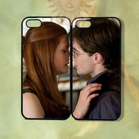Harry Potter and Ginny Couple Case -iPhone 5, iphone 4s, iphone 4, ipod touch Samsung GS3 GS4-Silicone or Hard Plastic Case, cover