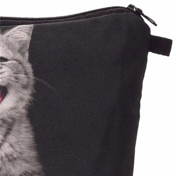 cat Printing cosmetic bag