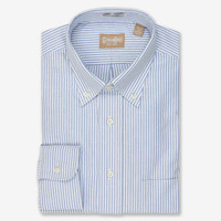 Gitman Shirt Oxford Blue Stripe