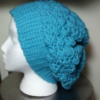 Turquoise Slouchy Beanie