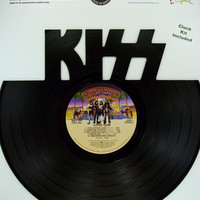 Recycled Vinyl Record KISS Wall Art