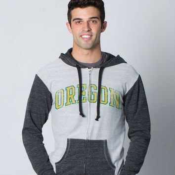 Official NCAA University of Oregon Ducks UO THE MIGHTY OREGON DUCK! Women's French Terry Zip Hooded Sweatshirt