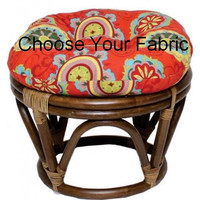 Round Papasan Pillow Cushion Tufted Round Pillow Chair Ottoman Footstool Pillow CHOOSE YOUR FABRIC Pouf Seat Floor Pillow Custom Made