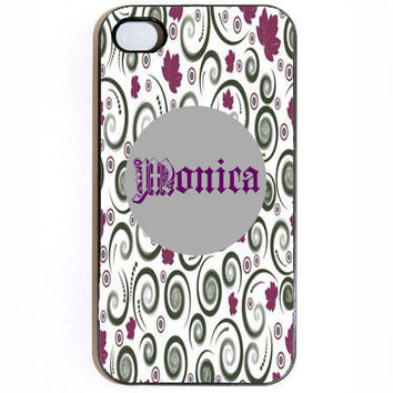 iPhone 4 4s Purple Swirly Hard Snap on iPhone Case by KustomCases