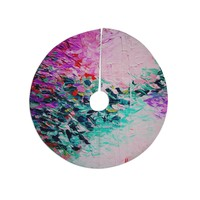 "Ebi Emporium ""Romantic Getaway"" Pink Teal Tree Skirt"