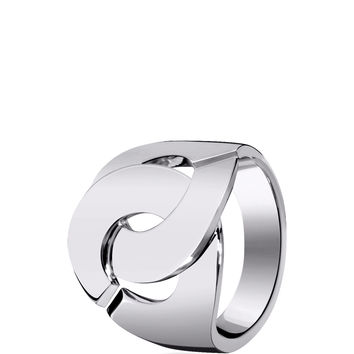 White Gold Menottes Dihn Van R16 Ring with Diamonds