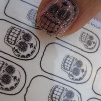 Calavera Clear Nail Decals Mexican Day of the Dead