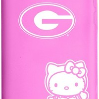 Tribeca Gear FVA7043 Tribeca Gear iPod Touch 4th Generation Silicone Case, Hello Kitty, University of Georgia, Pink - 1 Pack - Carrying Case - Retail Packaging - Pink