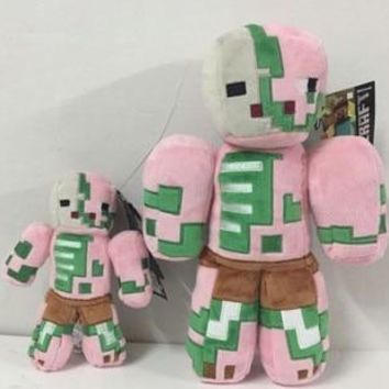 Minecraft plush toy  Enderman Creeper Alex Pig Zombie ZombiePigman cow Stuffed toy doll Christmas presents for children's