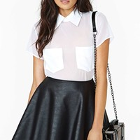 Reformation For Nasty Gal Donna Blouse