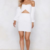 I'm Cut-Outta Love Off-the-Shoulder Dress