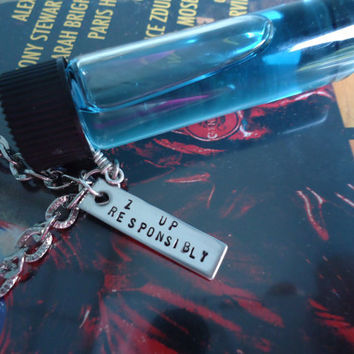 Repo The Genetic Opera Inspired  -  Zydrate Anatomy Glass Vial Men's Goth Punk Long Thick Chain Necklace