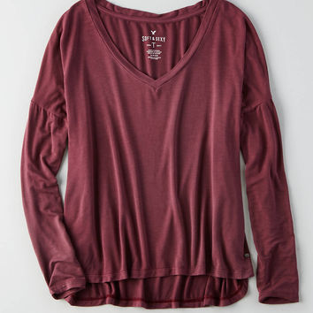 AEO Soft & Sexy Drop Shoulder T-Shirt, Nightfall Green