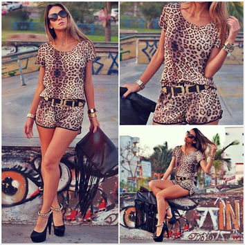 Women's Fashion Leopard Stylish Set [10356676301]