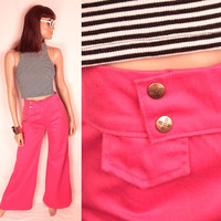 1970s bell bottoms // bright pink