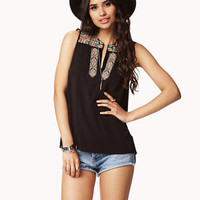 Multicolored Embroidered Top | FOREVER 21 - 2042205016